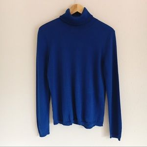Pendleton Royal Blue 100% Merino Wool Turtleneck